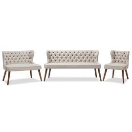 Scarlett 3 Piece Sofa Set in Beige